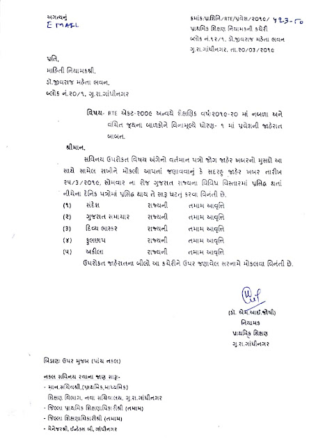 rte documents required in gujarat documents required for rte admission in Gujarat 2018-19