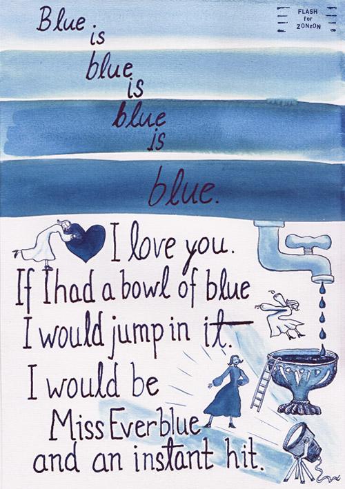 Flash For Zonzon Seasons November Blue Love Poem