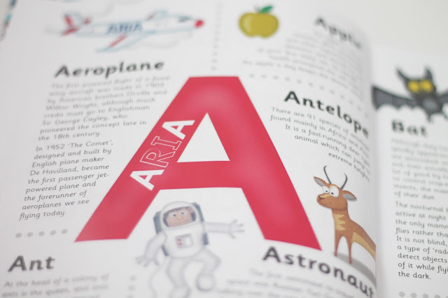 A for Aria inside of personalised encyclopedia