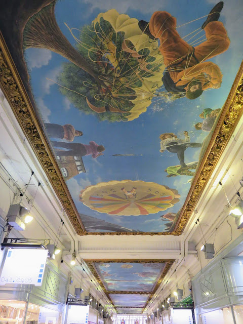 Painted Ceiling in Piccadilly Arcade in Birmingham UK