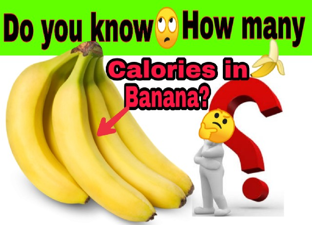how many calories in a banana