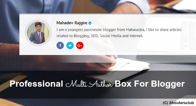 Professional Author Box For Blogger