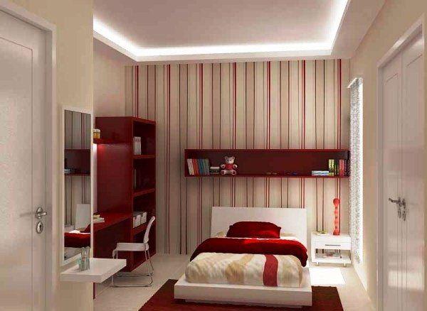 Model Desain Kamar Tidur Minimalis Ukuran 2x3