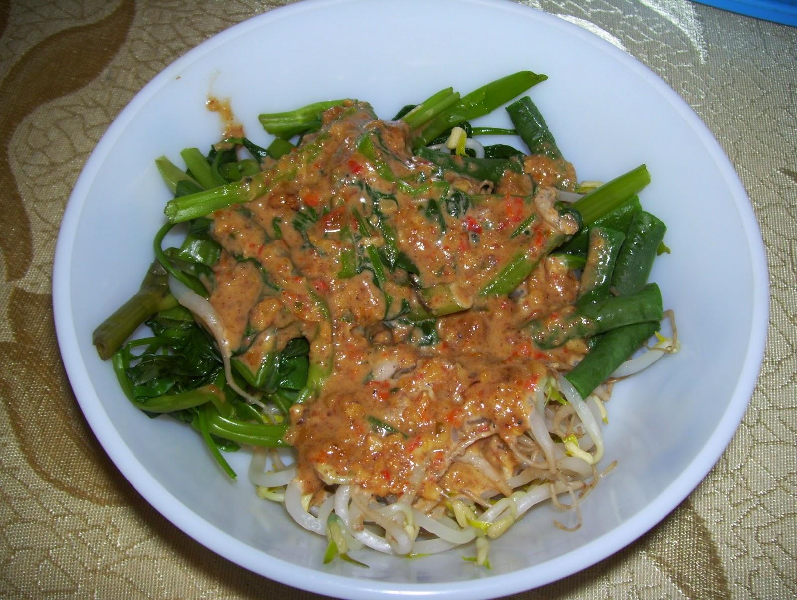 indonesian food recipes yummy pecel sayur java salad