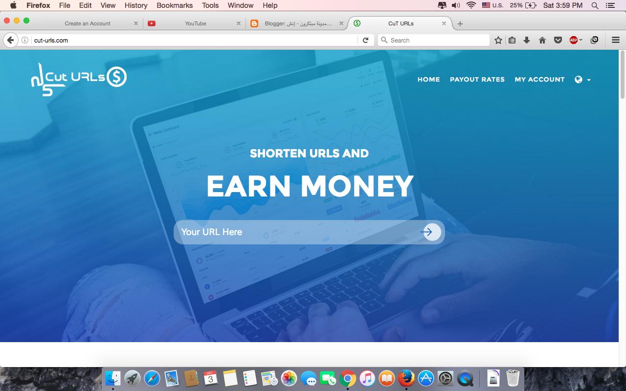 شرح موقع CuT URLs للربح من اختصار الروابط 10 دولار كل 1000 ز