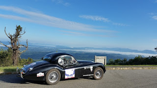 Jaguar XK120 FHC on the Blue Ridge Park Way