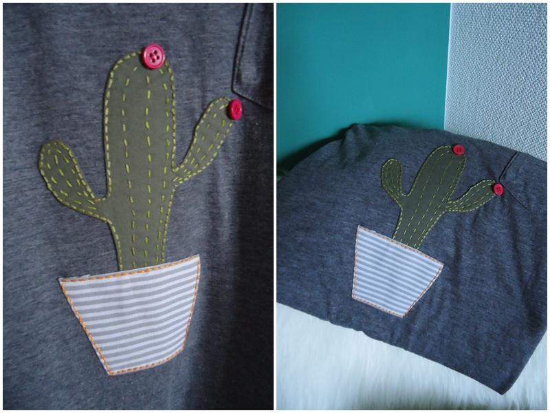 naszywka hand made, kaktus