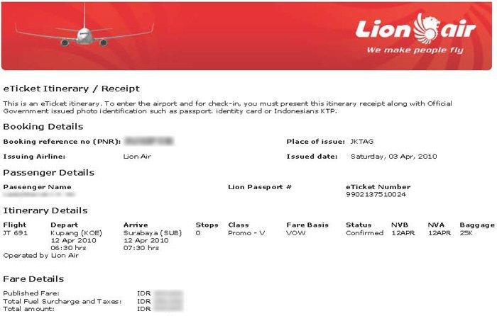 Tiket Maskapai Penerbangan, Tiket Pesawat - Lion Air