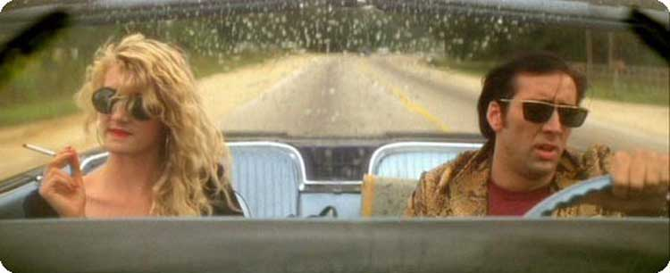 Laura Dern and Nicholas Cage hit the road in Wild at Heart.