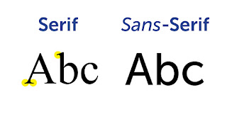 letras sans serif