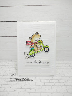 Let's Scoot! a card by Diane Morales| Newton Scoots By Stamp Set by Newtons Nook Designs
