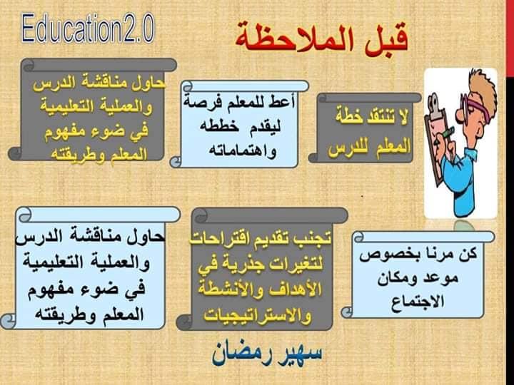 الملاحظة الصفية مفهومها وأهدافها وخطة الملاحظة قبل وأثناء وبعد 6