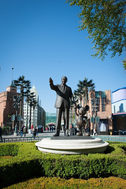 Walt Disney and Mickey Mouse Statue at Disneyland Paris in Marne-la-Vallée Outside Paris
