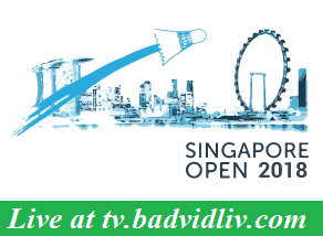 Singapore Open 2018 live streaming