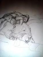 crayonnés de Cooper
