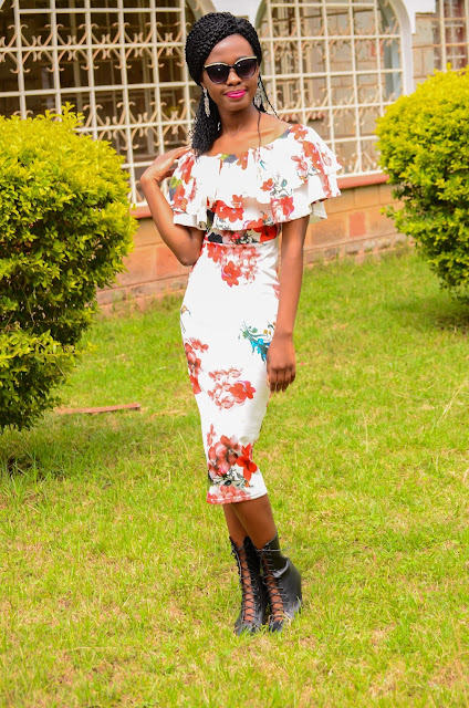 How You Can Wear A Floral Off-Shoulder Bodycon Dress