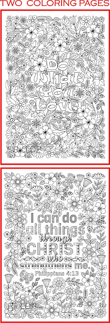 2 coloring pages for grownups