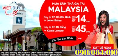 Vé máy bay khuyến mãi Air Asia mua sắm thả ga tại Malaysia