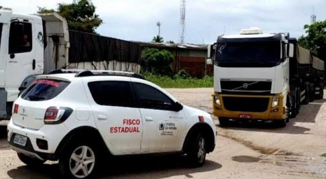 Receita apreende carga irregular com 50t de mineral em Santa Rita