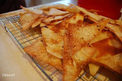 Baked Wonton Chips