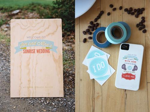 Sunrise Wedding Invitations: Jon & Nina's Sunrise Wedding Suite