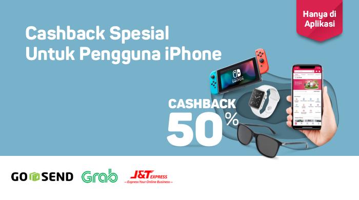 Bukalapak - Promo Cashback Ongkir 50% Khusus Pakai iOS (s.d 31 Juli 2018)
