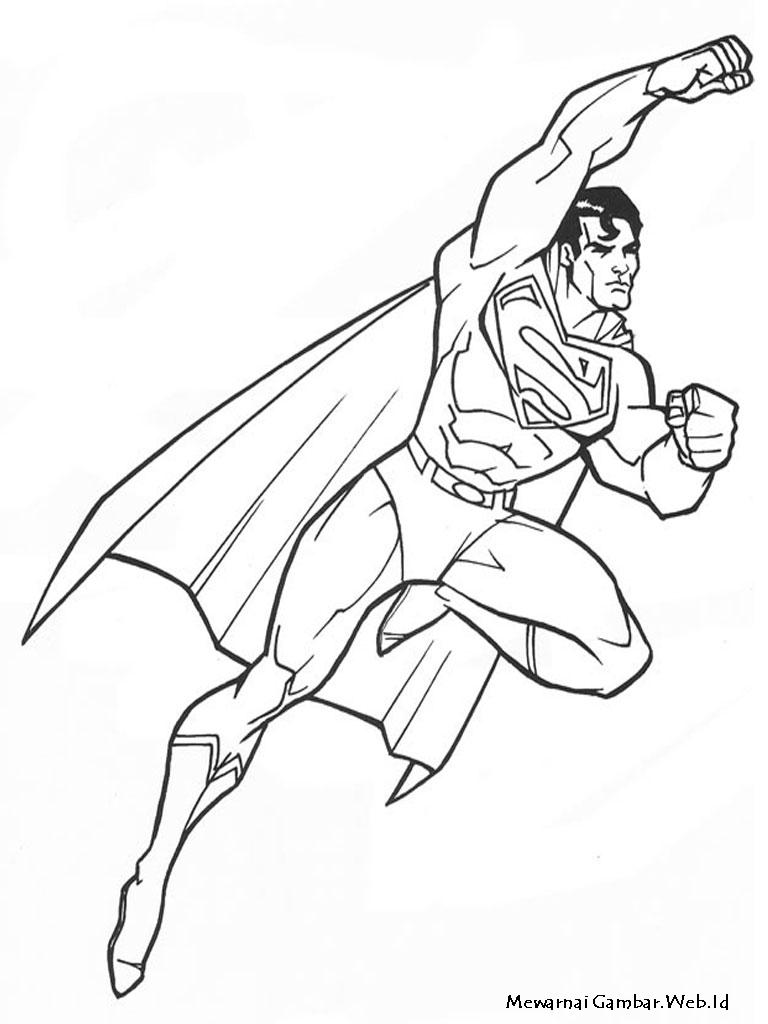 Sketsa Mewarnai Gambar Superman Auto Electrical Wiring Diagram