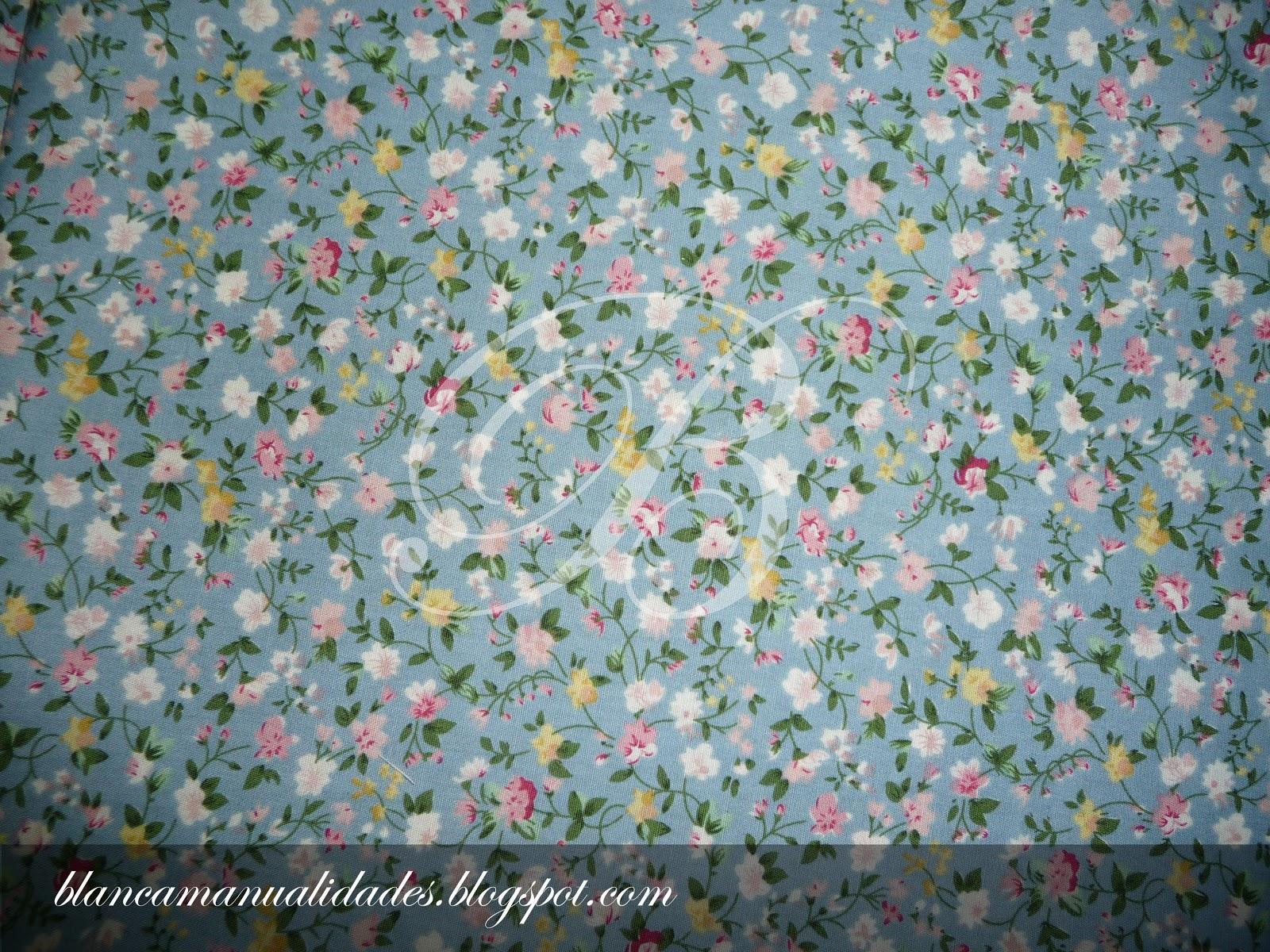 Las Telas De Blanca: Flores De Colores Con Fondo Azul