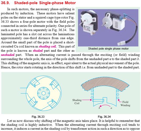 A Shaded Pole Motor Wiring