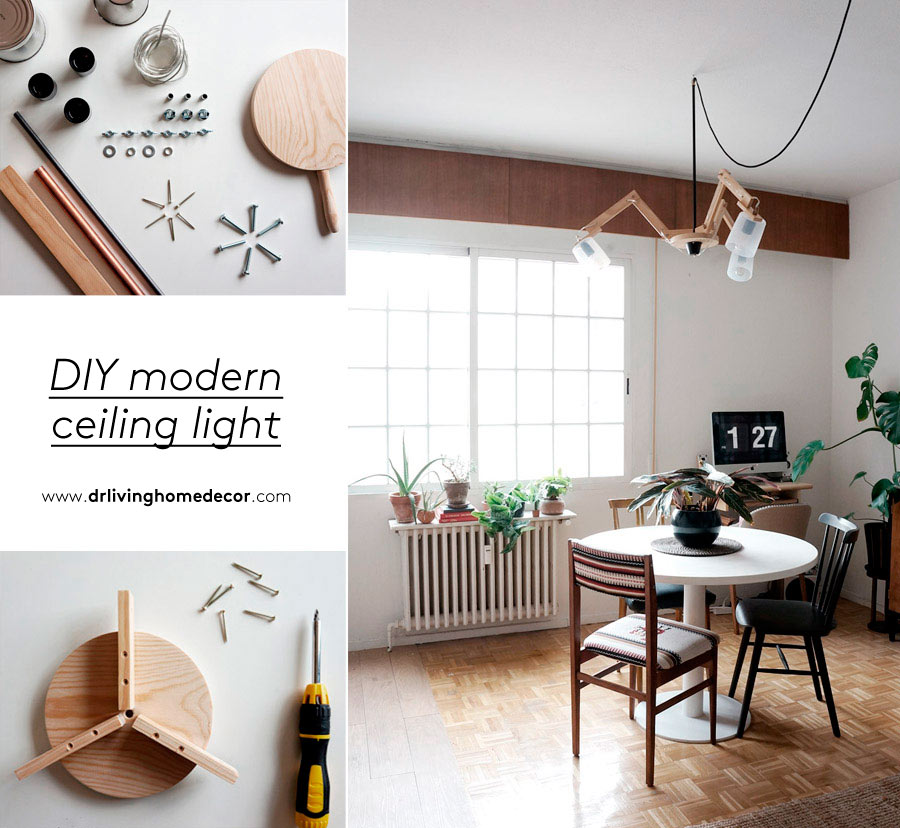 Diy modern ceiling light