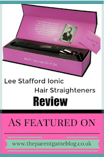 A review of Lee Stafford's hair ionic hair straighteners, with before and after photos of my extra thick hair.