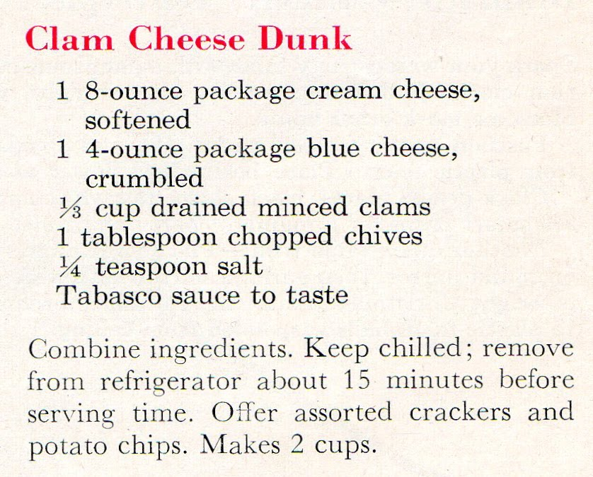 "1950""s New Years Eve Appetizers (recipe)"