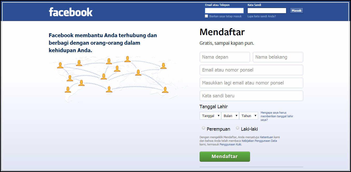 Cara Mendaftar Facebook, Cepat dan Mudah. Terapkan 4