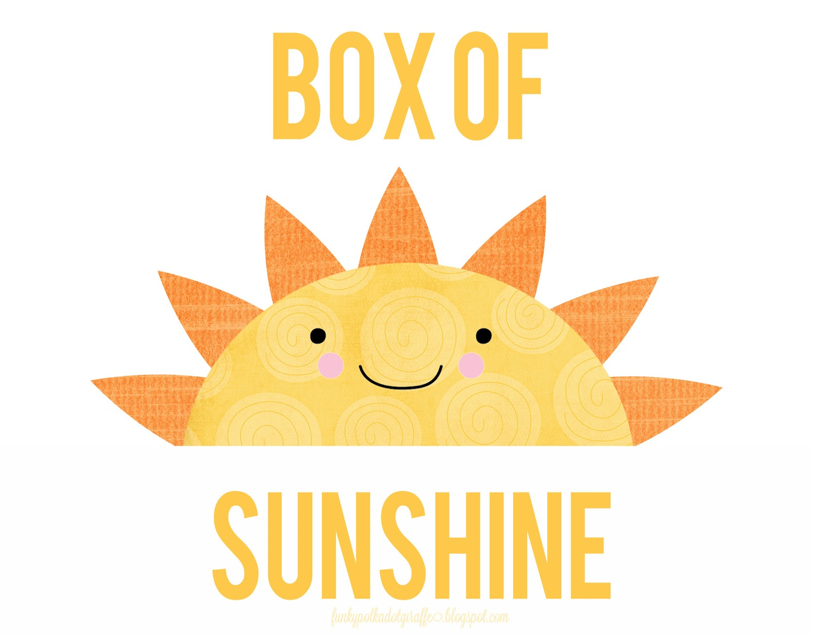 graphic regarding Basket of Sunshine Printable called Funky Polkadot Giraffe: Box of Solar: Present toward Brighten a Working day