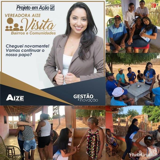 Vereadora Aize Bezerra realiza visita surpresa ao assentamento Modelo I