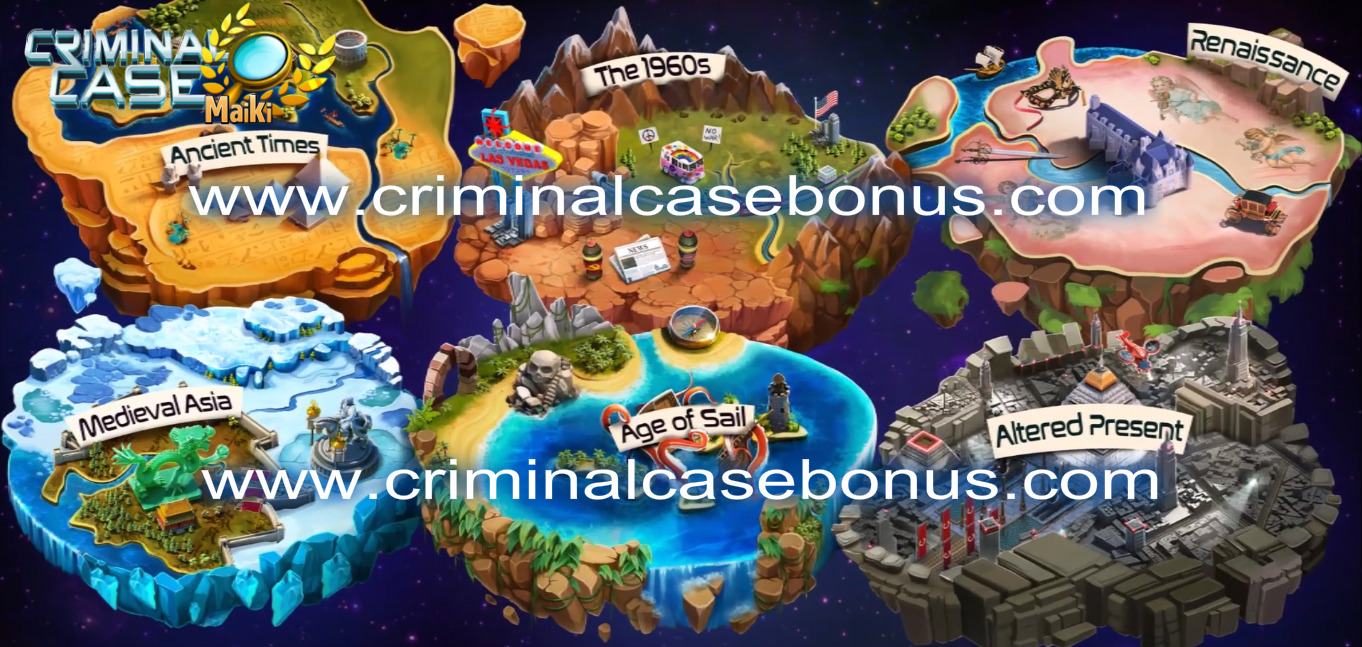 Exclusive Travel In Time The Whole Map And Your 8 New Partners Criminal Case Free Energy Criminal Case Grimsborough Pacific Bay World Edition Mysteries Of The Past