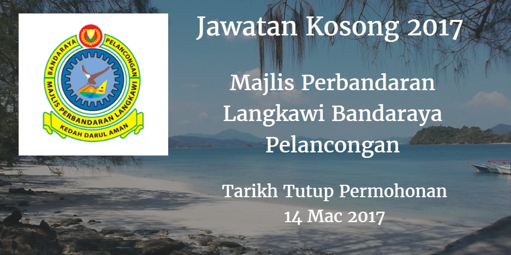 Jawatan Kosong MPLBP 14 Mac 2017
