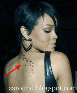 Rihanna with Tattoo