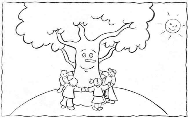 Baú Da Web: Desenhos E Atividades Dia Da Árvore Para Colorir