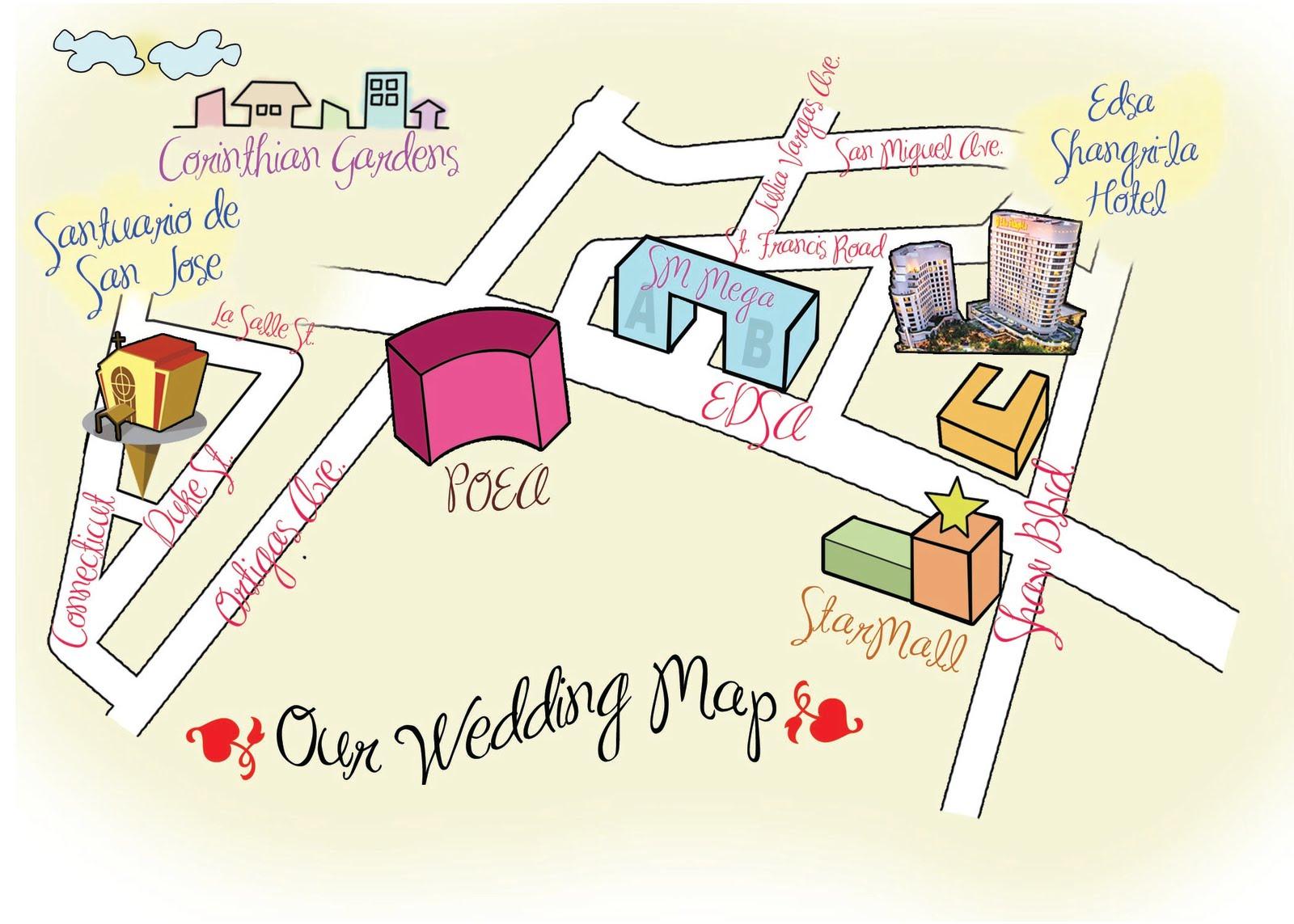 Ms Jen S Cutie Wedding Map
