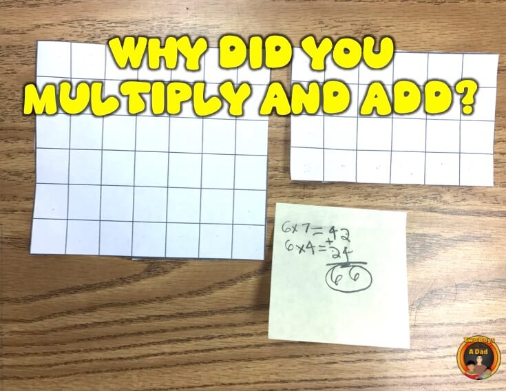 Multiplying and adding to find the area of irregular shapes