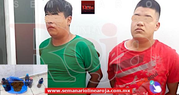 Tras persecución en la COLOSIO, la Policía local detuvo a 2 sujetos con droga