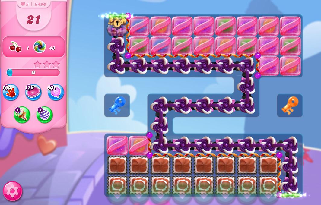 Candy Crush Saga level 6490