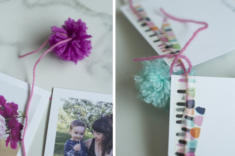DIY Pom Pom Photo Banner