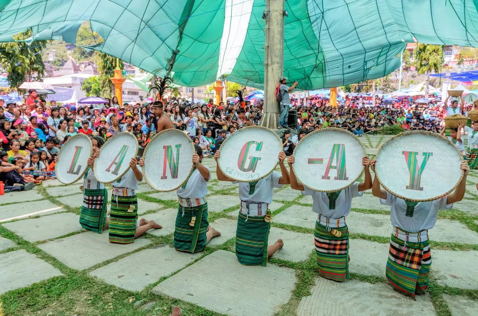 LANG-AY Signage 13th Lang-Ay Festival Bontoc Mountain Province Cordillera Administrative Region Philippines
