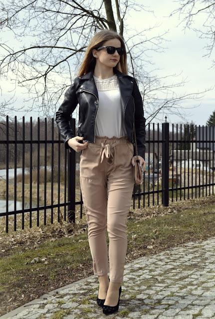 338. Elegant spring look.Spodnie cygaretki. ♥