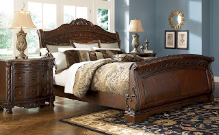 แบบเตียงนอนไม้