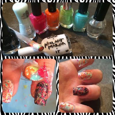 Strumenti per creare delle unghie bellissime con l'aiuto di una cannuccia! facilissime.