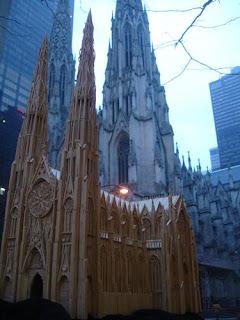 Iglesia con palillos de dientes.