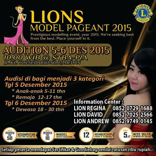 Lions Model Pageant 2015